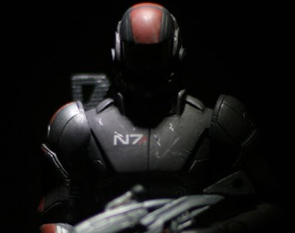 male shepard mass effect statue