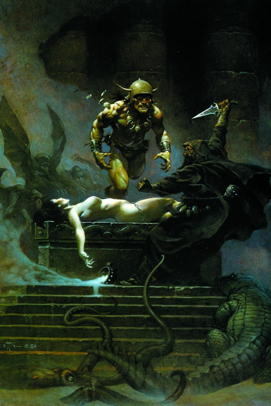 Don't worry, I would never talk shit about Frank Frazetta.
