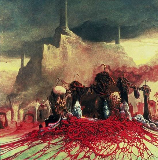 Sauron repairs the Barad-Dur by Zadislaw Beksinksi (I think)
