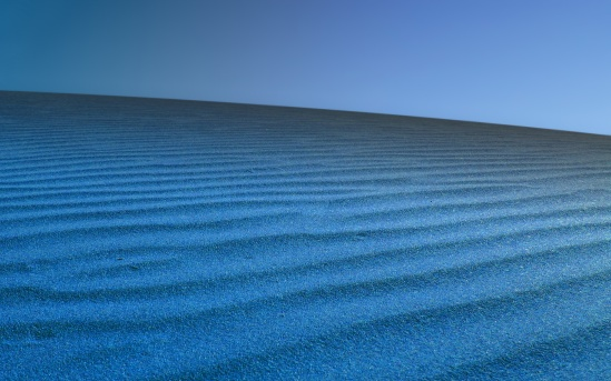 Blue desert on Dune.