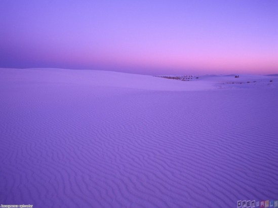 Purple desert on Dune.