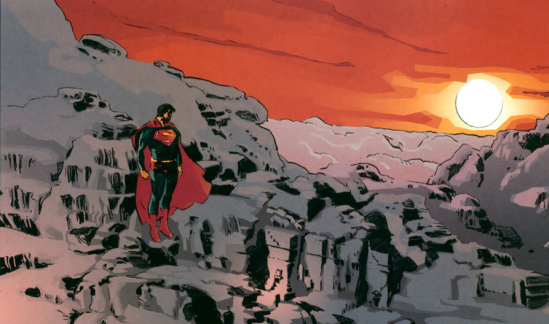 superman arctic comic
