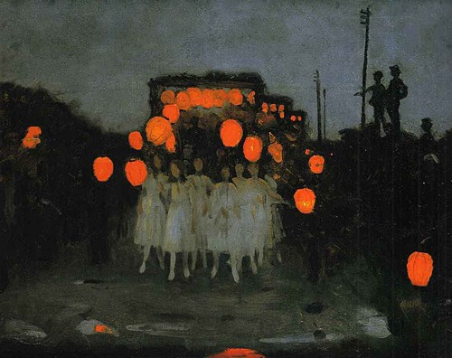 The Lantern Parade by Thomas Cooper Gotch, 1910