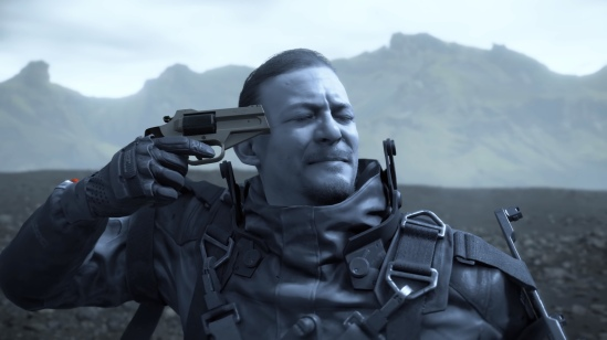 Death Stranding - gun to head